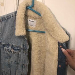 Jean Jacket with Fake Fur